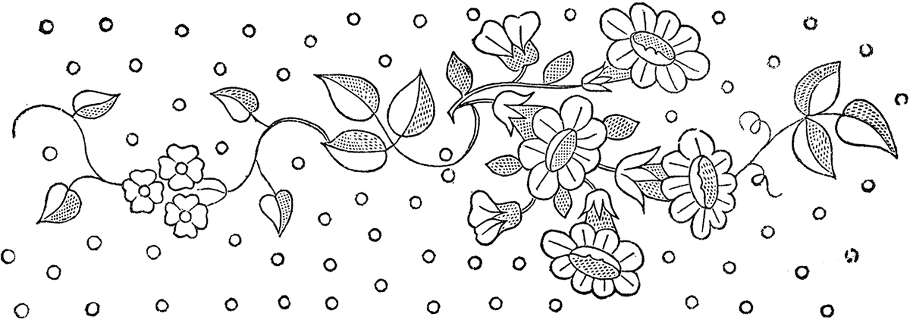 Floral Embroidery Patterns Pretty The Graphics Fairy