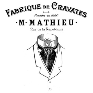 French Men's Neckwear Transfer