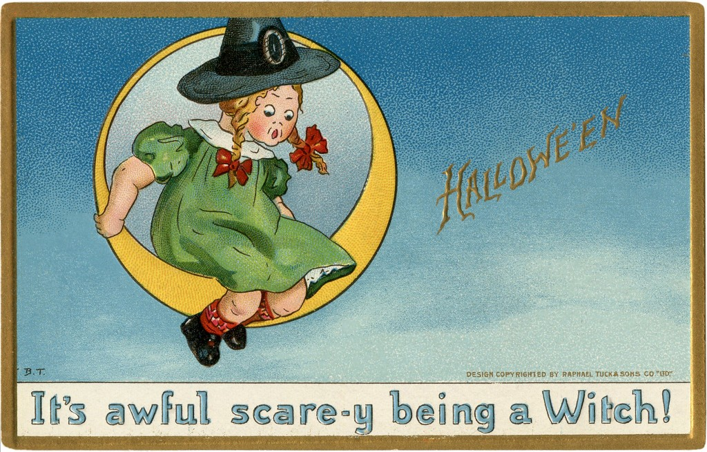 Frightened Witch Girl Image