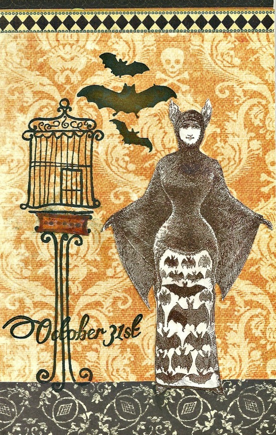 Halloween Collage Art Postcard Reader Featured Project