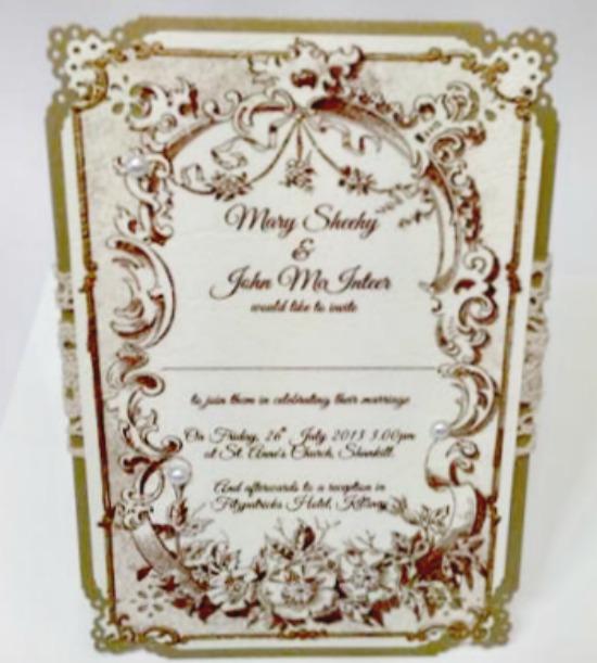 Vintage Handmade Wedding Invitations: Handmade Wedding Invitations