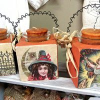 Handmade Halloween Votives