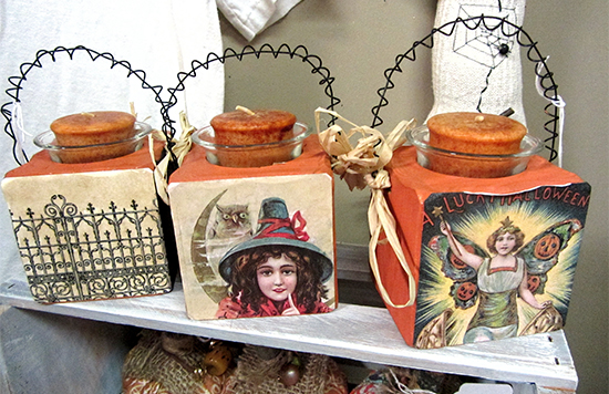 Handmade Halloween Votives - Reader Featured Project