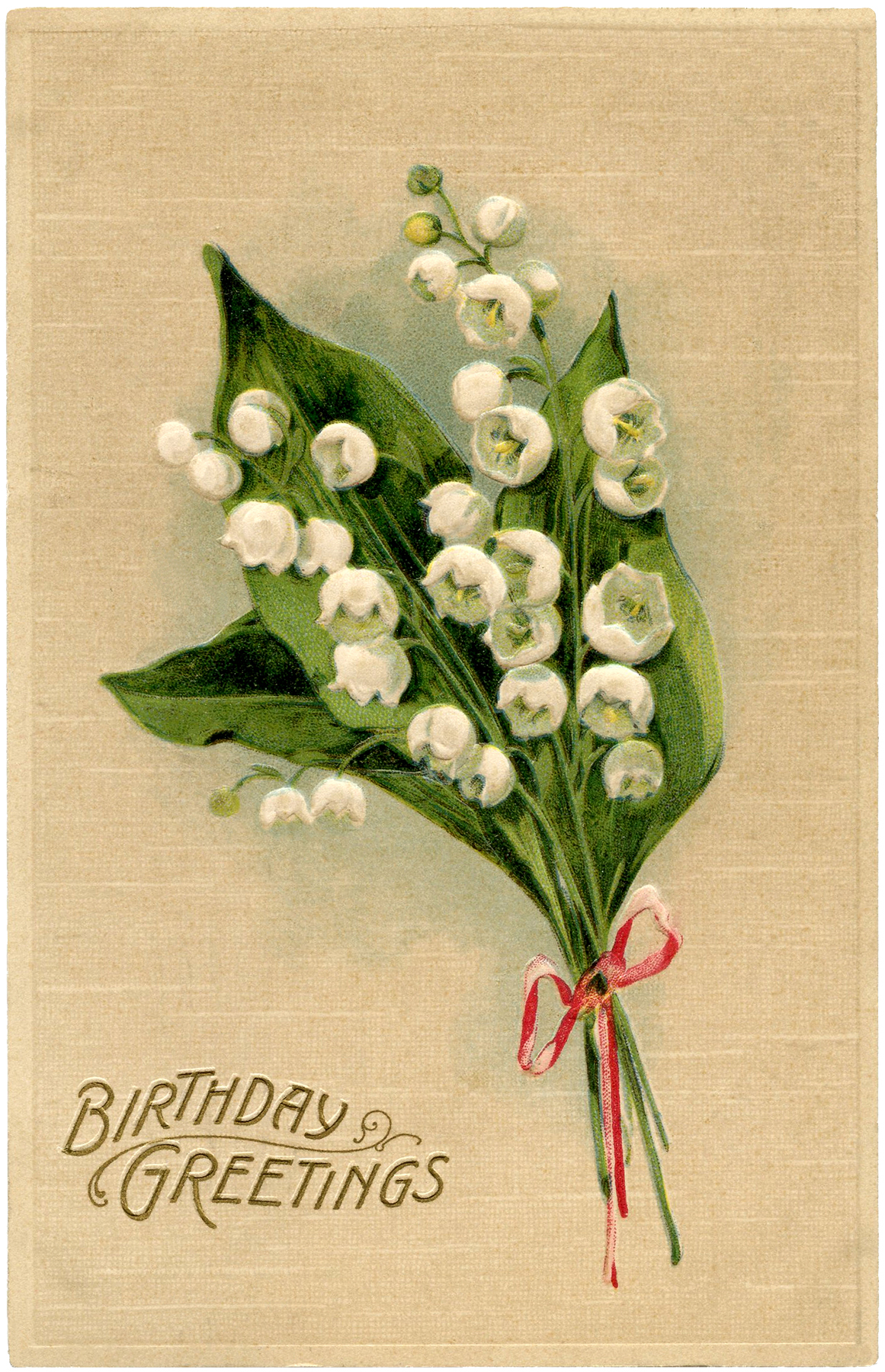 Lily Of The Valley Birthday Card The Graphics Fairy
