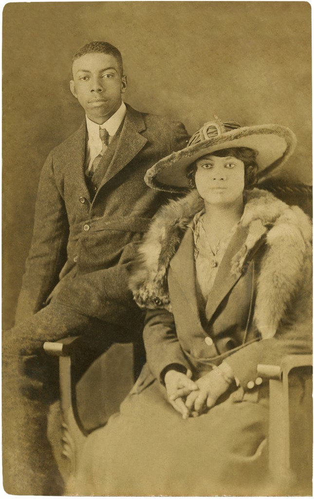 Old Photo African American Couple