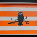 Painted Halloween Tray