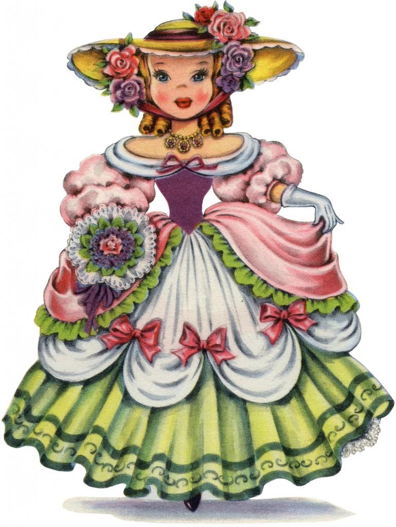 Retro English Doll Image