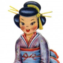 Retro Japanese Doll Image