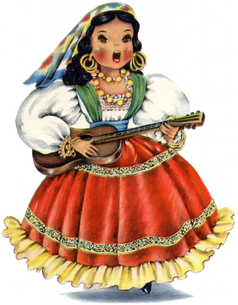 Retro Mexican Doll Image