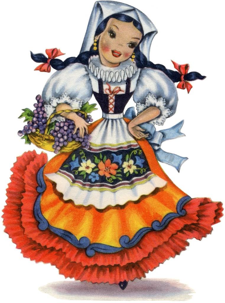 Retro Italian Doll Image