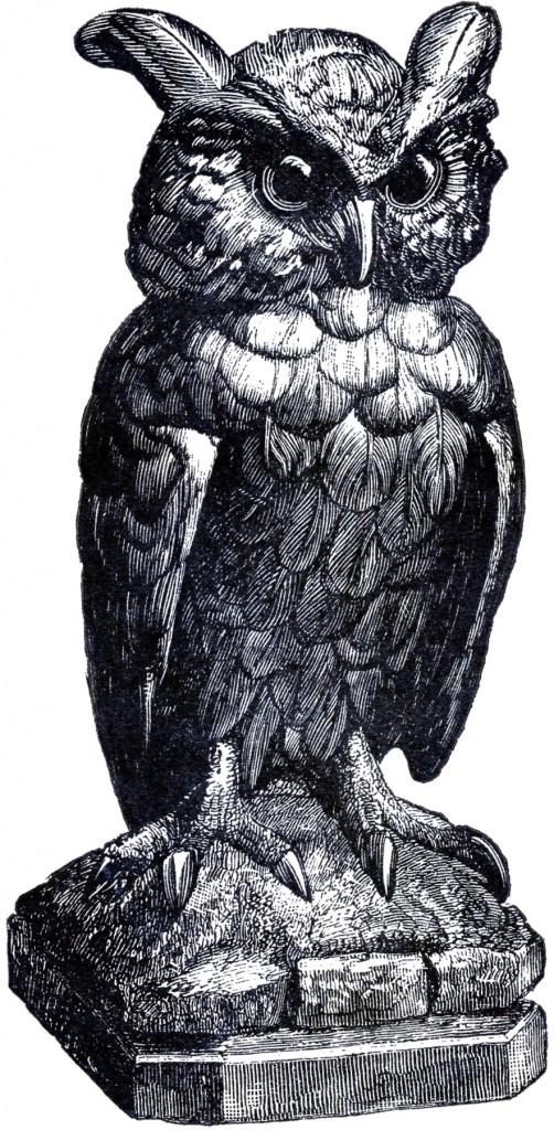 Spooky Owl Statue Image