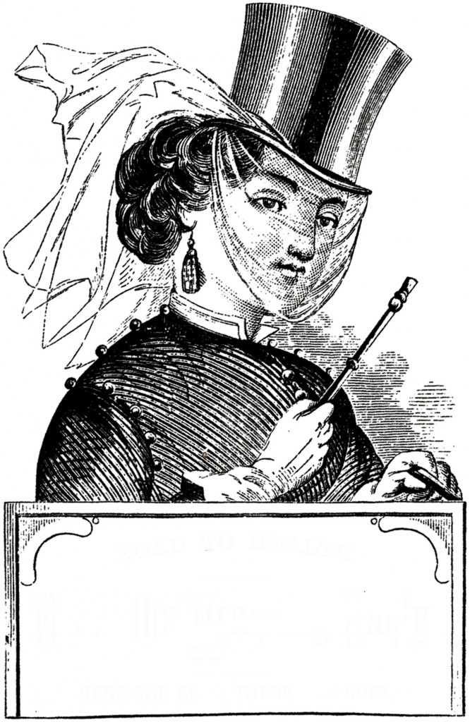 Victorian Riding Habit Lady Label
