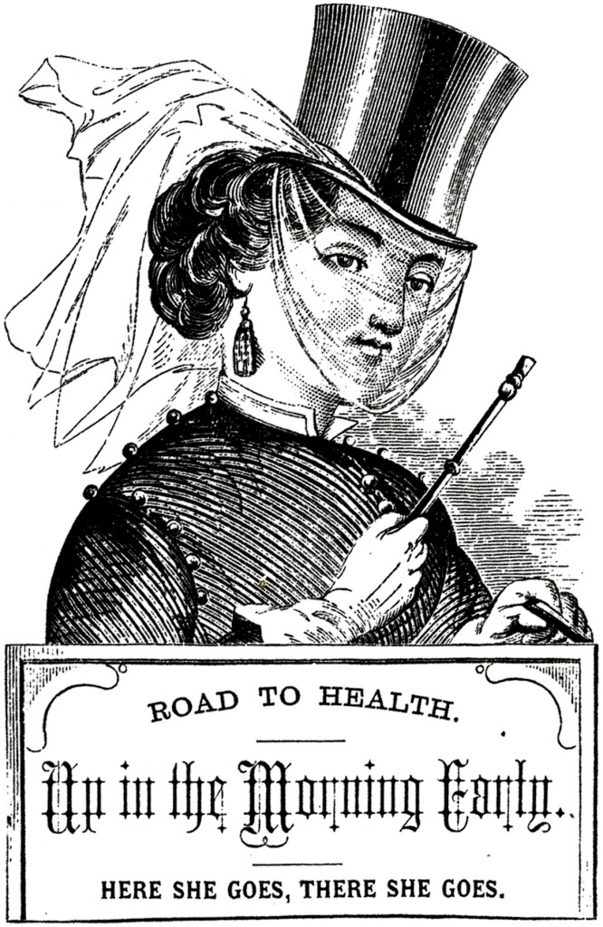 Victorian Riding Habit Lady Image