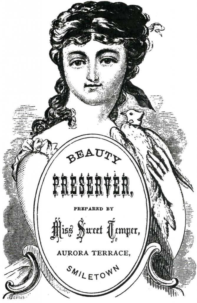 Vintage Beauty Ad Label