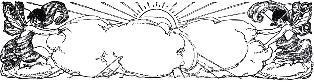 Vintage Cloud Fairies Image