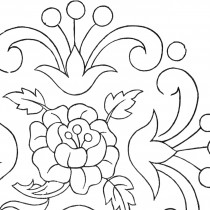Vintage Floral Embroidery Pattern