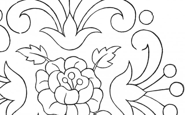 Vintage Floral Embroidery Pattern!