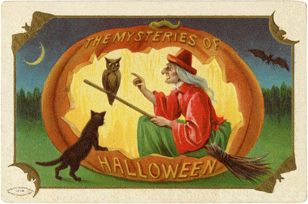 Vintage Halloween Witch Download