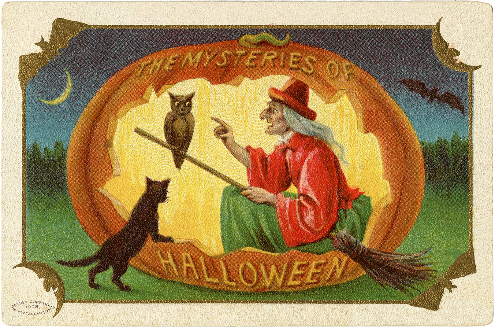 vintage halloween witch download the graphics fairy. Black Bedroom Furniture Sets. Home Design Ideas