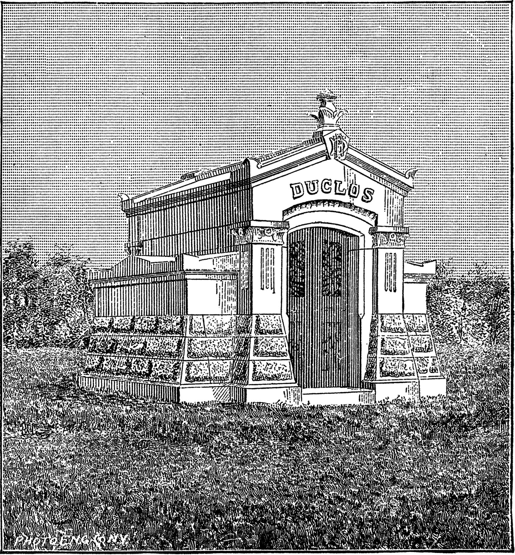 Vintage Mausoleum Clip Art Spooky The Graphics Fairy
