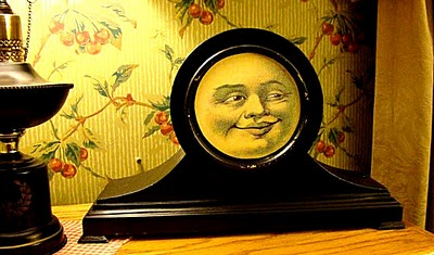 Upcycled Vintage Clock with Moon Face