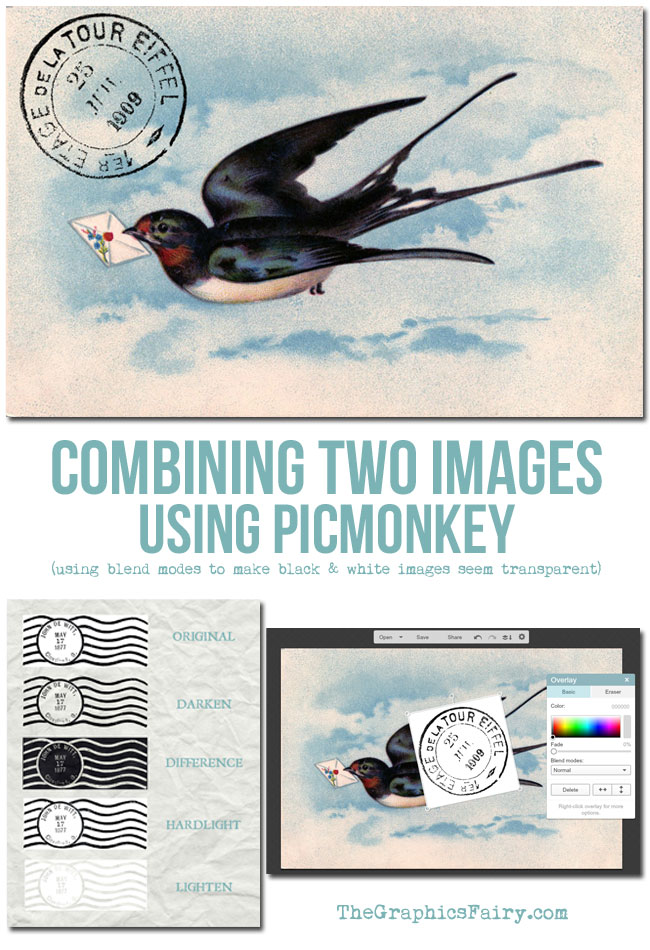 Combining Two Images Using PicMonkey // The Graphics Fairy