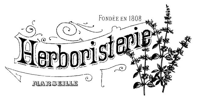 French Herbal Shop Transfer  //  The Graphics Fairy