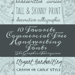 10 Commercial Free Handwriting Fonts!