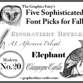 Four Fonts for Fall!
