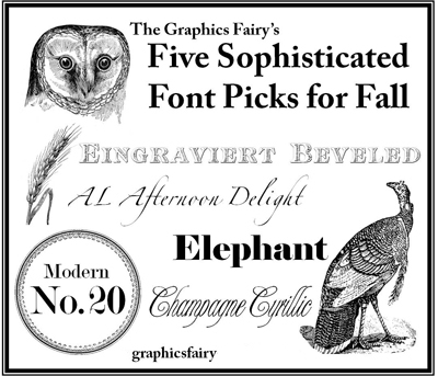 Five Fonts for Fall