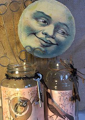 Halloween Moon Decoration Crafts with Jars