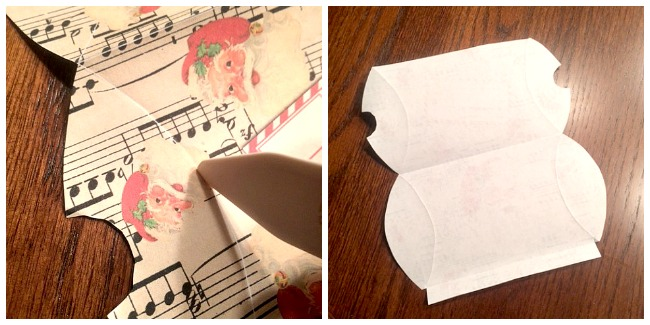 Santa Pillow Box Printable  //  The Graphics Fairy