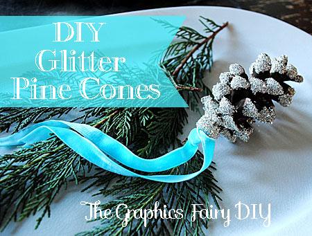 11 - The Graphics Fairy - Glitter Pinecone Ornaments