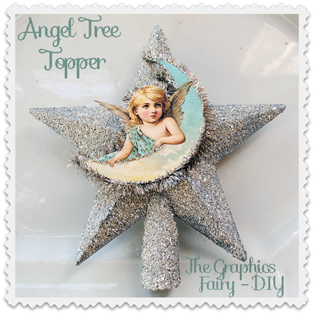 14 - The Graphics Fairy - Angel Star Tree Topper