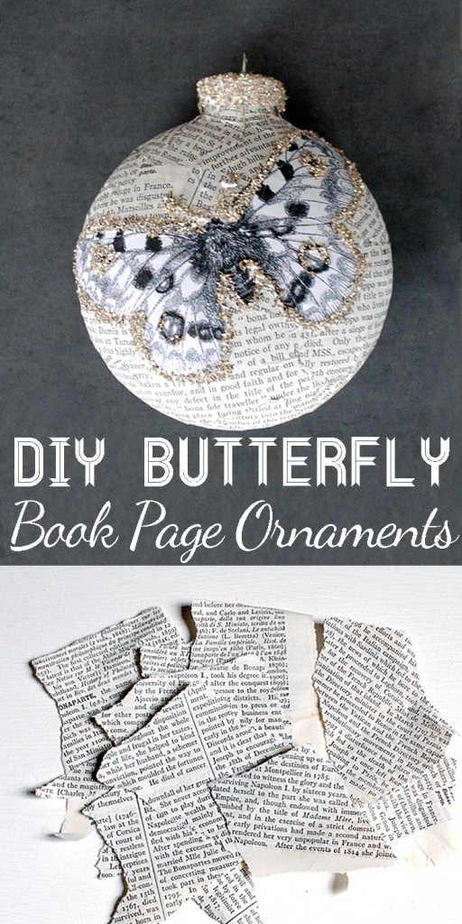 21 - Book Page Crafts Ornament