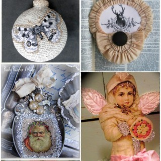 24 DIY Vintage Ornaments!