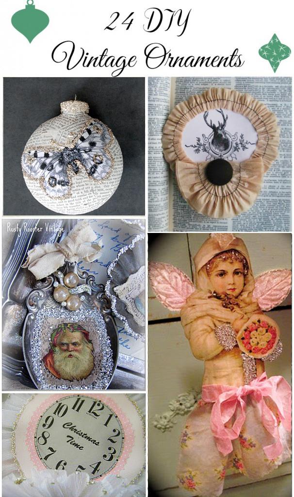 24 DIY Vintage Ornaments