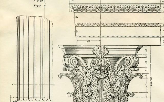 Architecture Printable Corinthian Columns – Diagram!