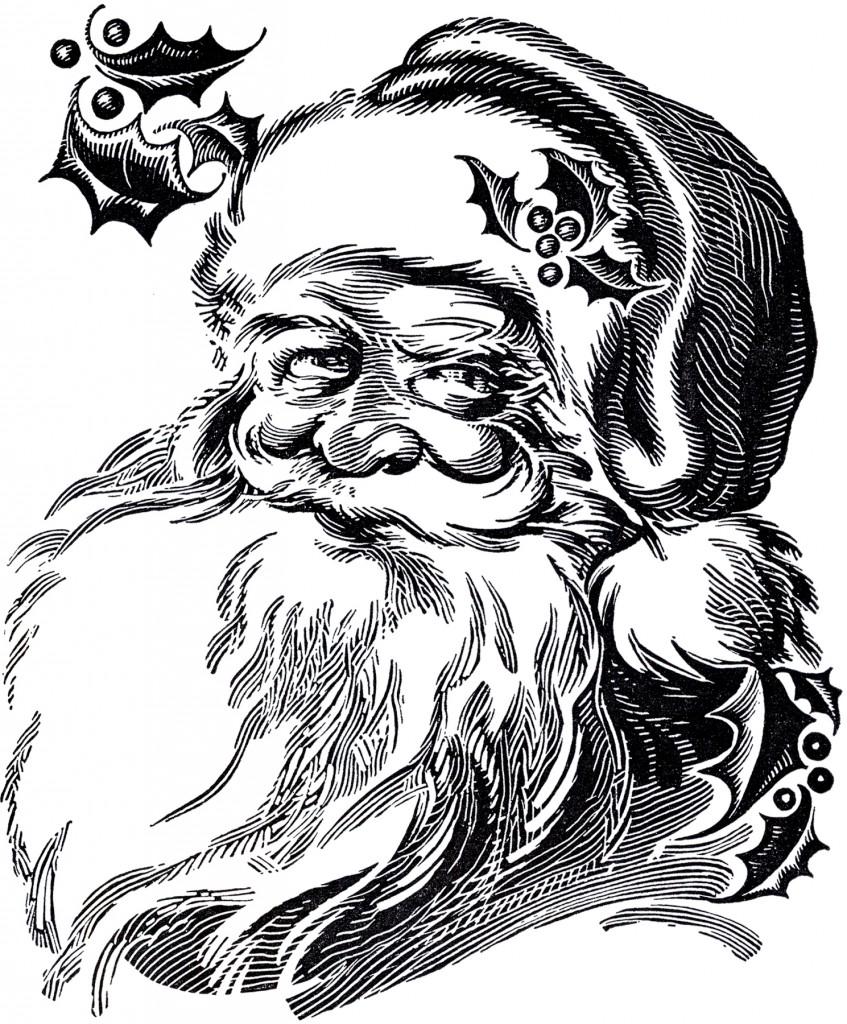 Beautiful Santa Drawing