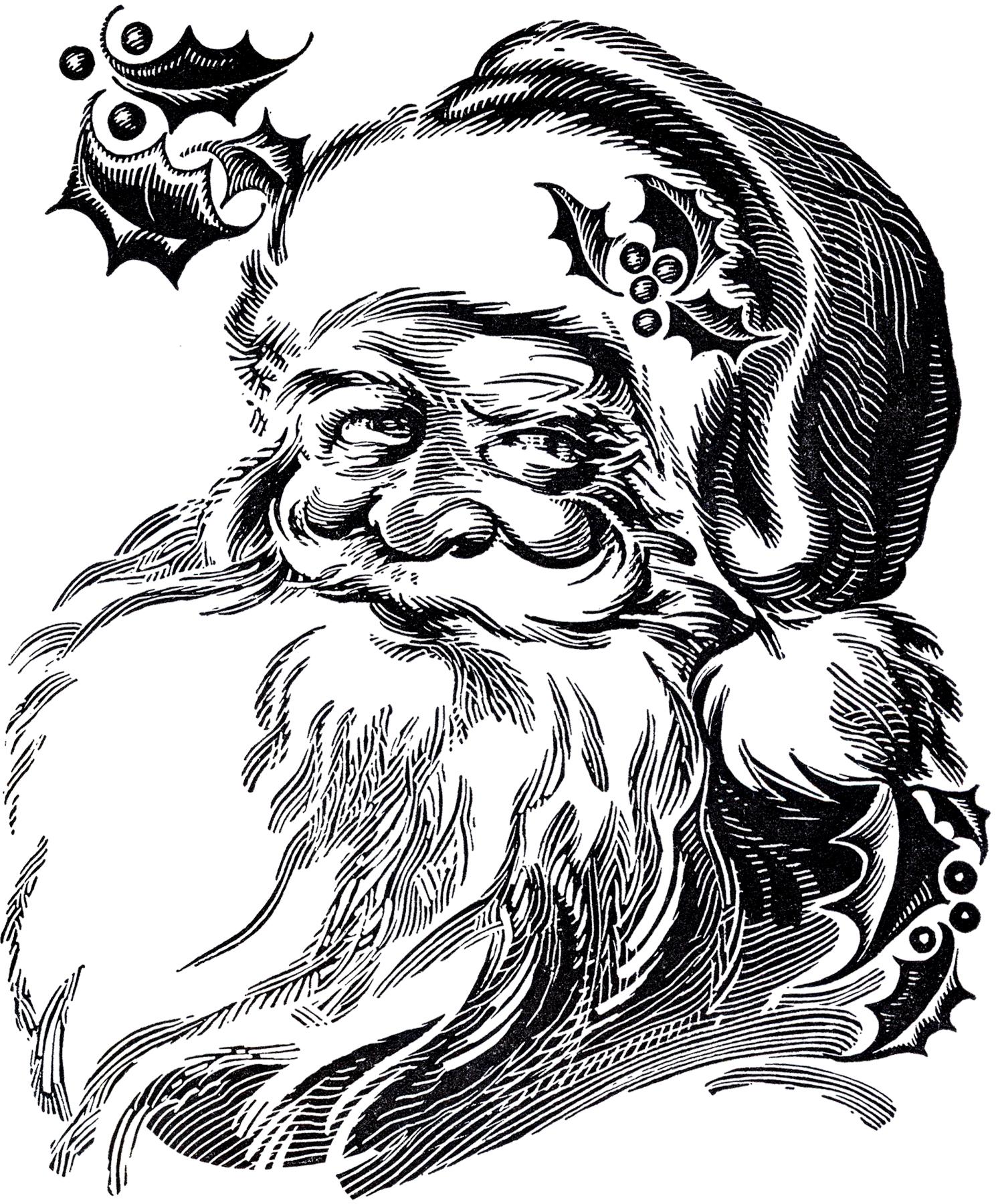 Beautiful Santa Drawing!