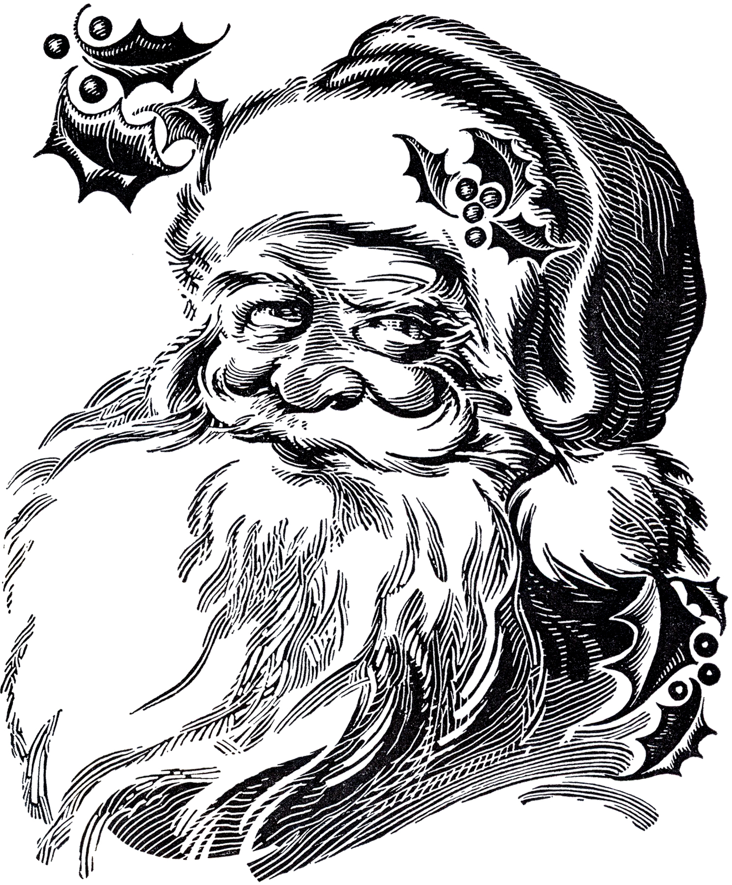Line Drawing Santa Face : Beautiful santa drawing the graphics fairy