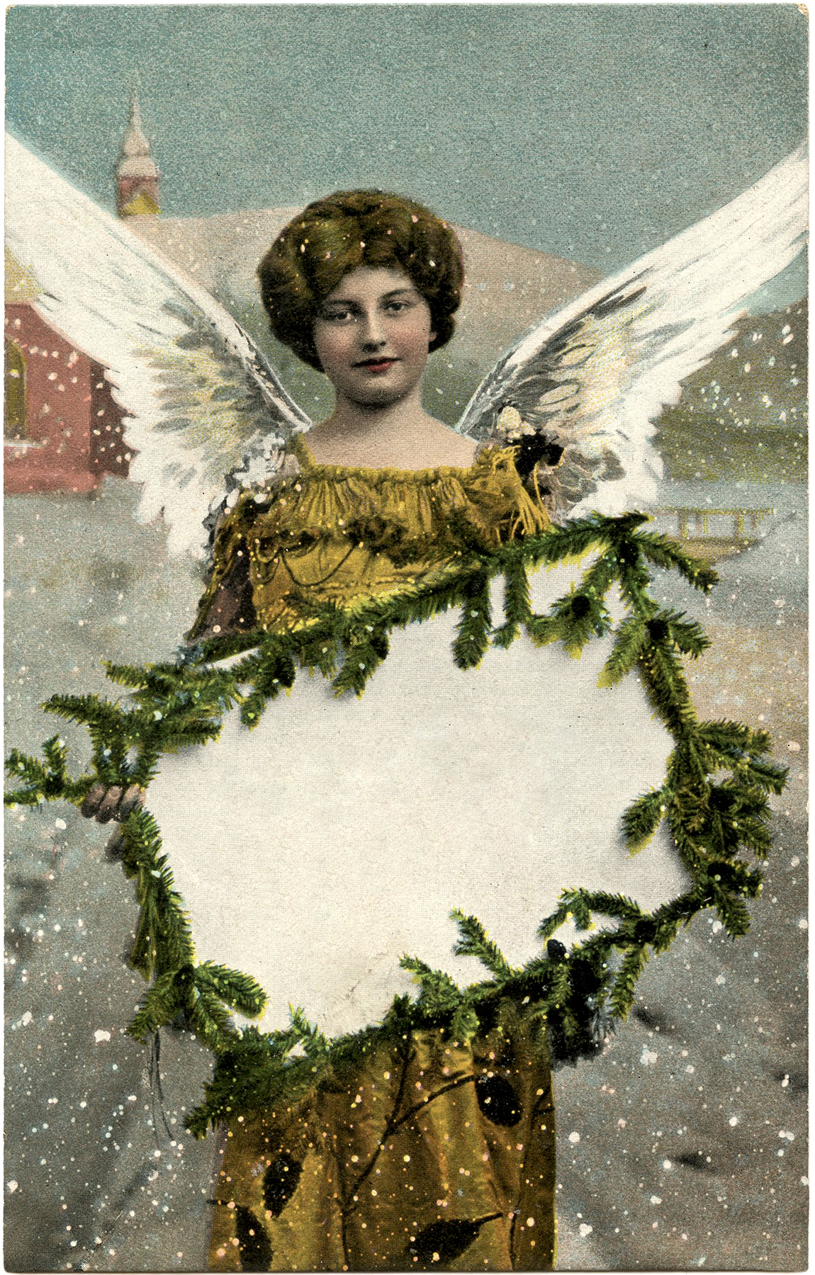 Charming christmas greetings angel tag the graphics fairy for Christmas angels