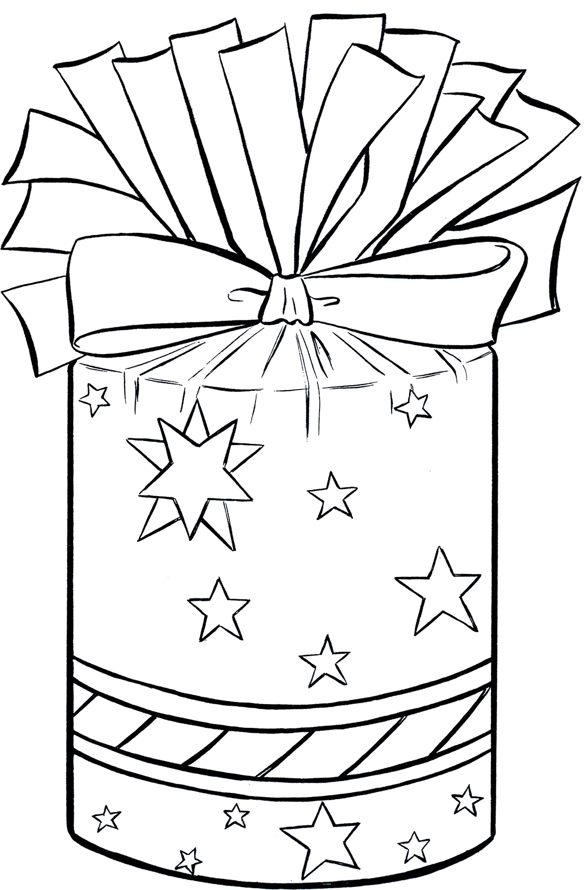 Line Art Xmas : Christmas present clip art fun the graphics fairy