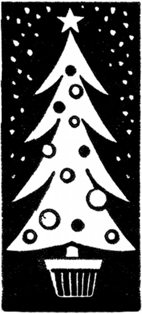 Funky Retro Christmas Tree The Graphics Fairy