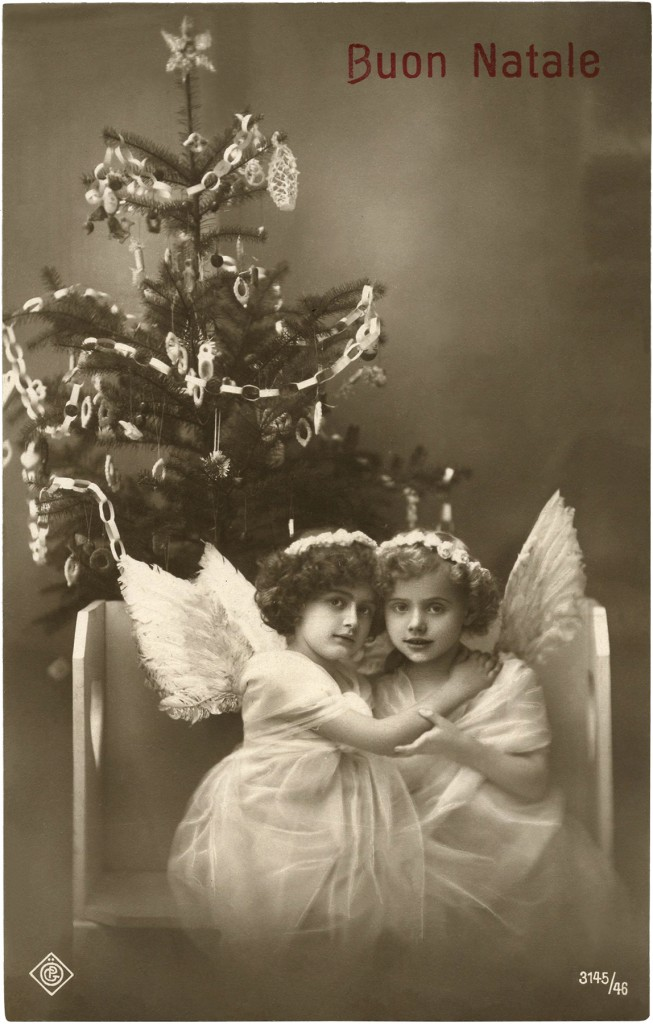 Old Photo Cute Angel Girls