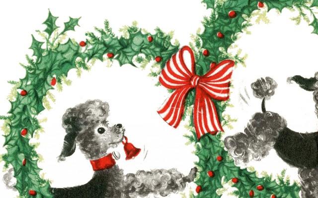 Super Cute Retro Christmas Dogs Image!