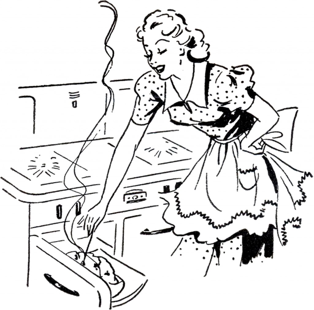 Retro Cooking Mom Image