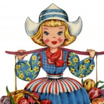 Retro Dutch Doll Image