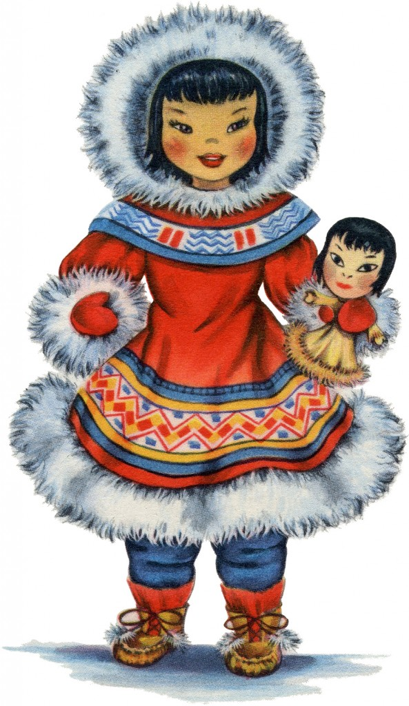Retro Eskimo Doll Image