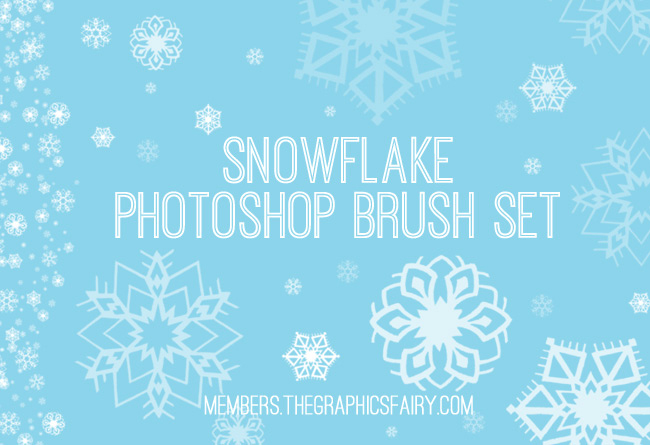 Retro-Snowflake-Brush-Set-6